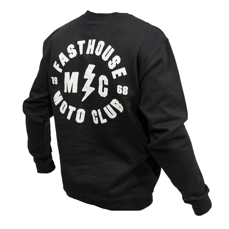 Moto Club Crew Pullover - Black