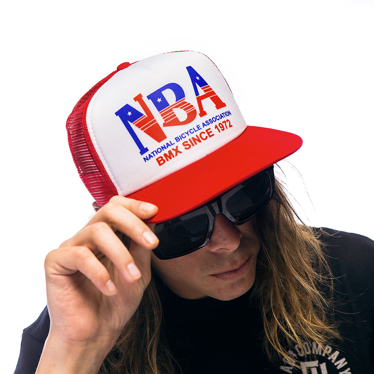 Throwback NBA Trucker Hat - Red
