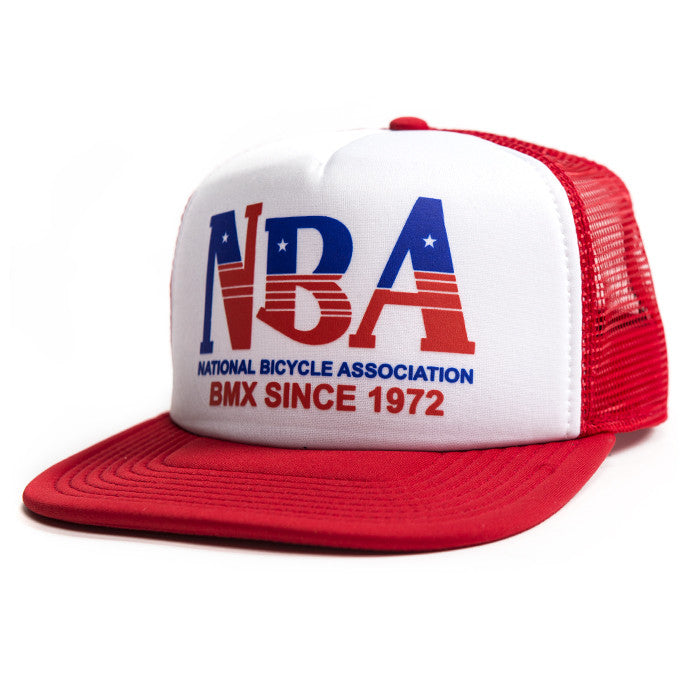 Fasthouse Throwback NBA Trucker Hat Red
