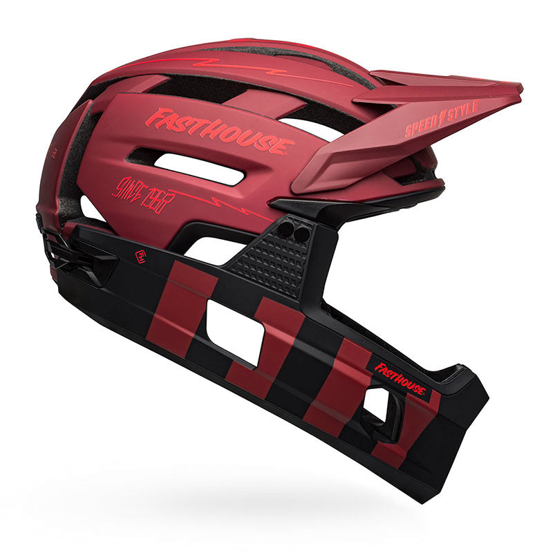 Bell Super Air R Spherical Helmet - Red/Black