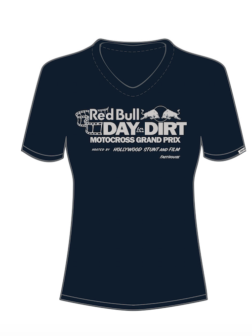 Fasthouse - Red Bull Day in the Dirt 19 Tee - Womens Navy