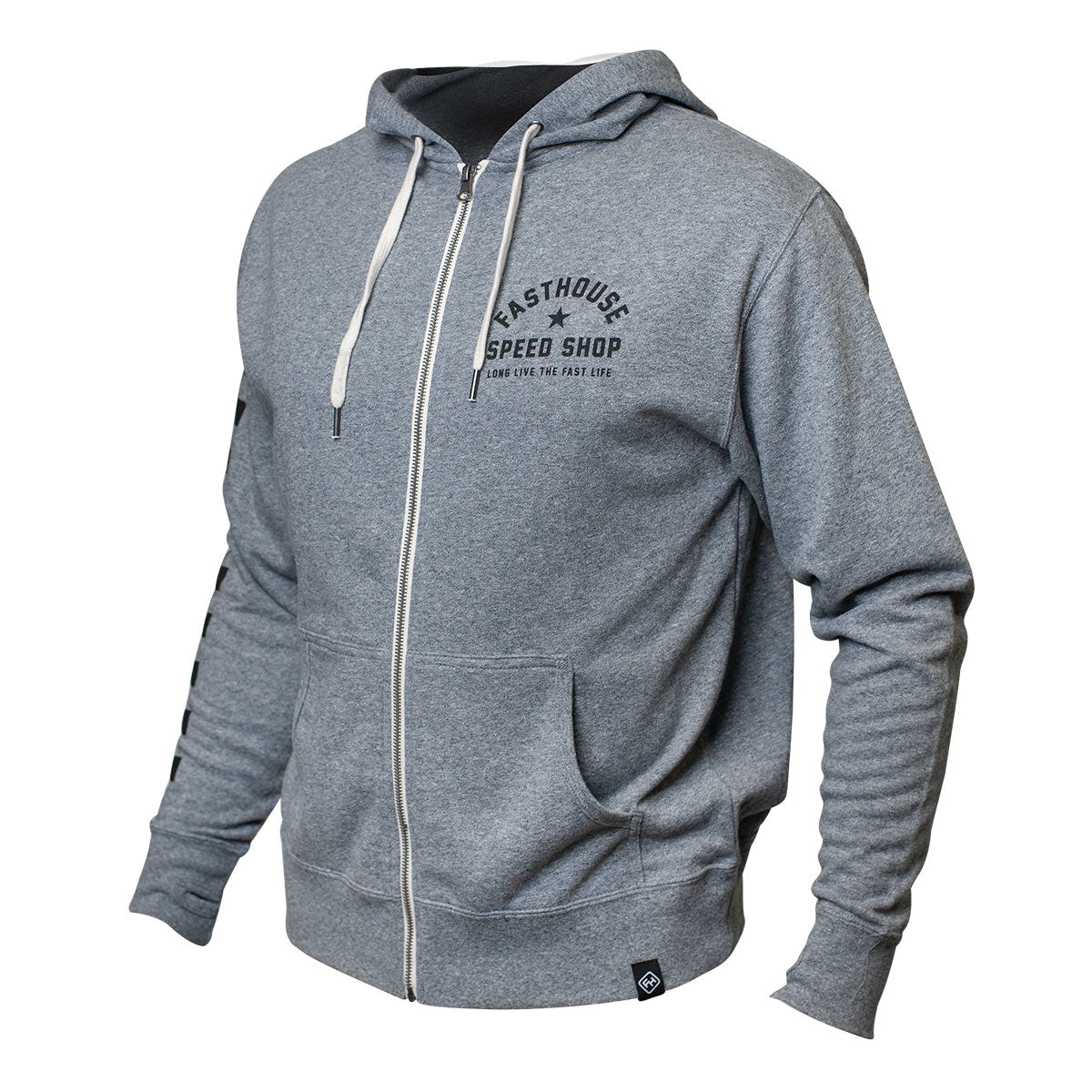 Star Hooded Zip-Up - Heather Grey