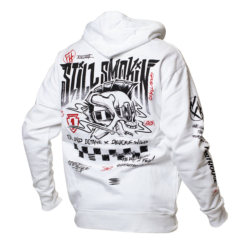 Still Smokin '21 Hooded Pullover - White