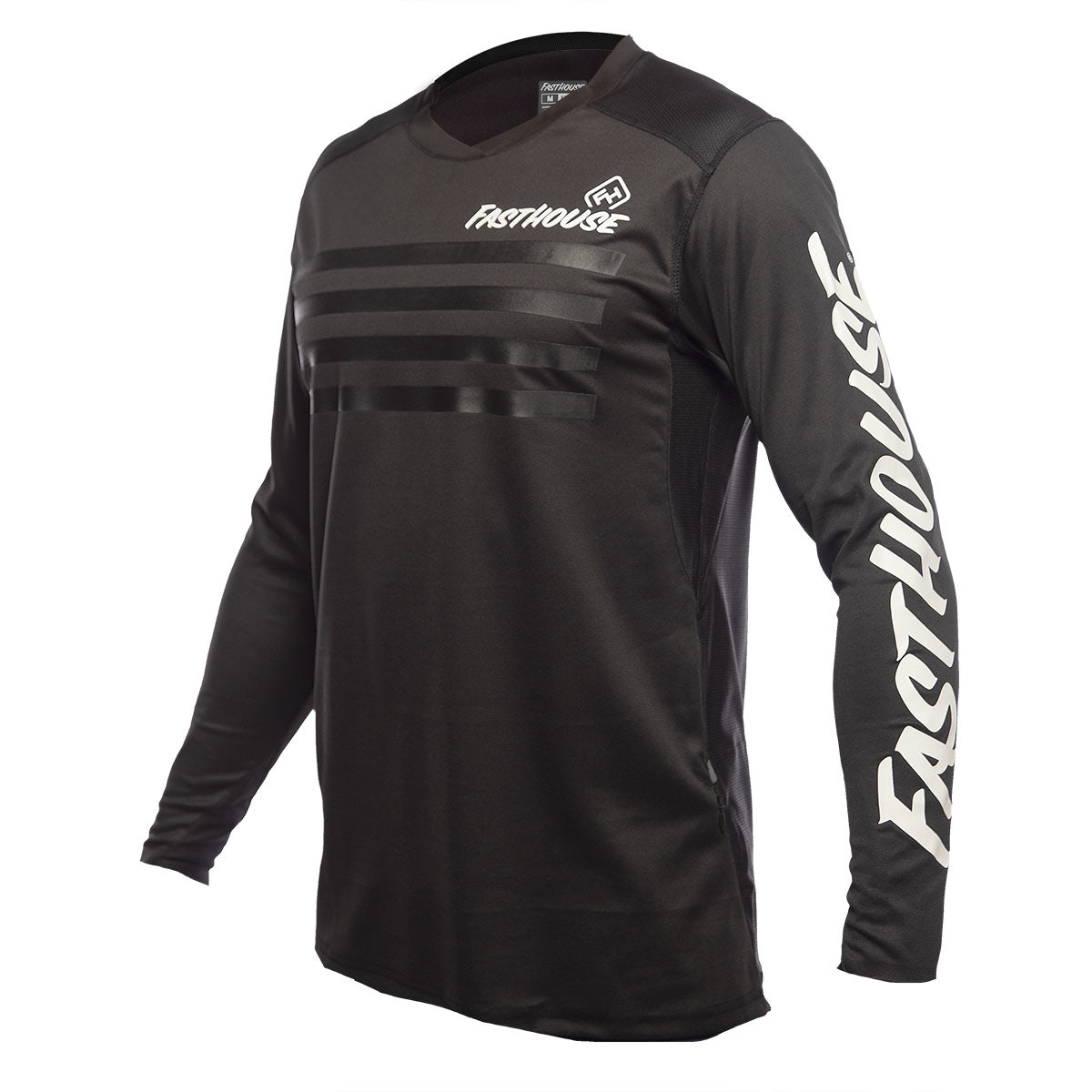 Alloy Stripe LS Jersey - Black
