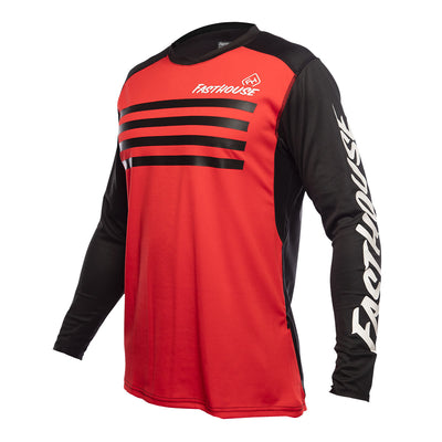 Alloy Stripe LS Jersey - Red