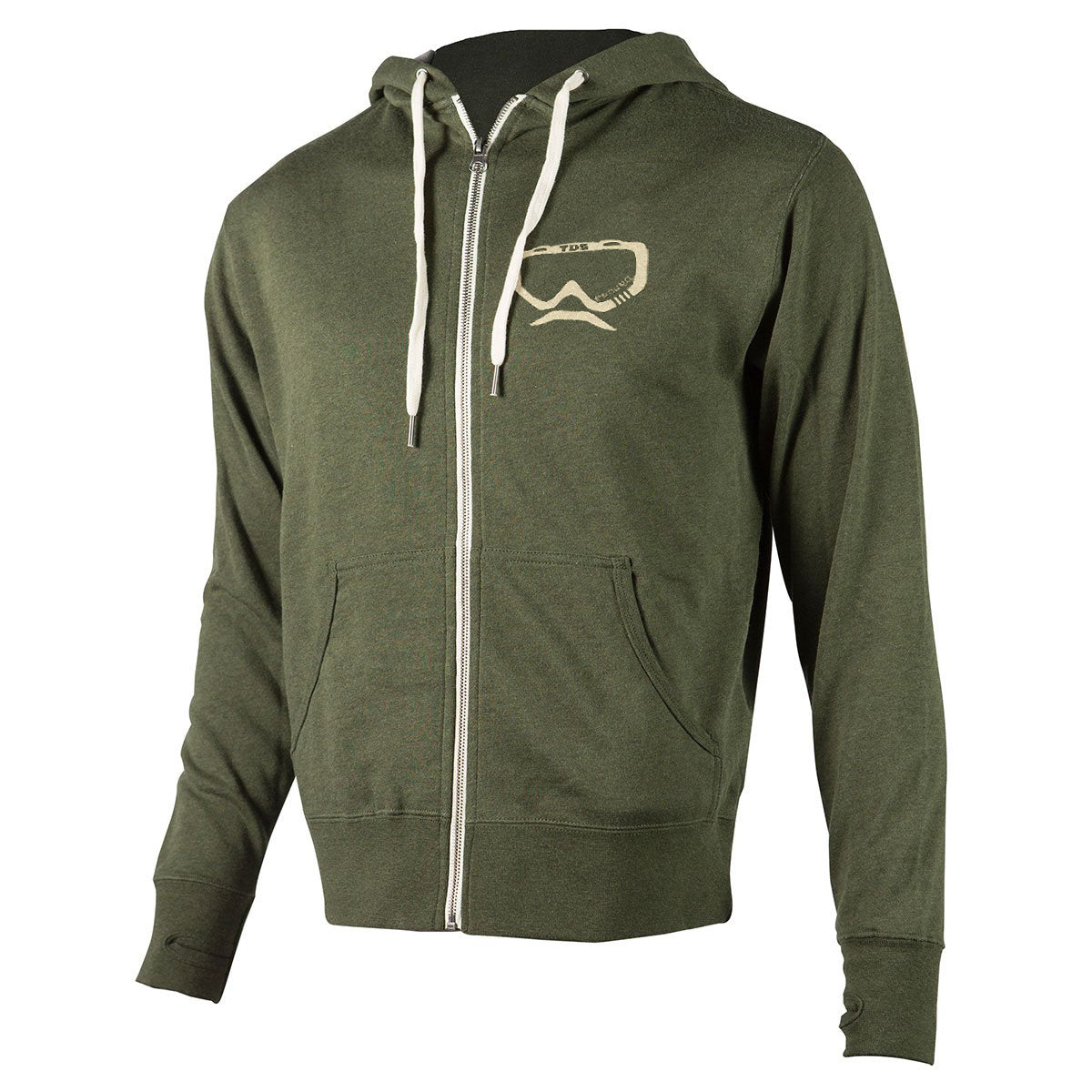 Fasthouse - TDS Zip Up Hoodie - Olive Heather