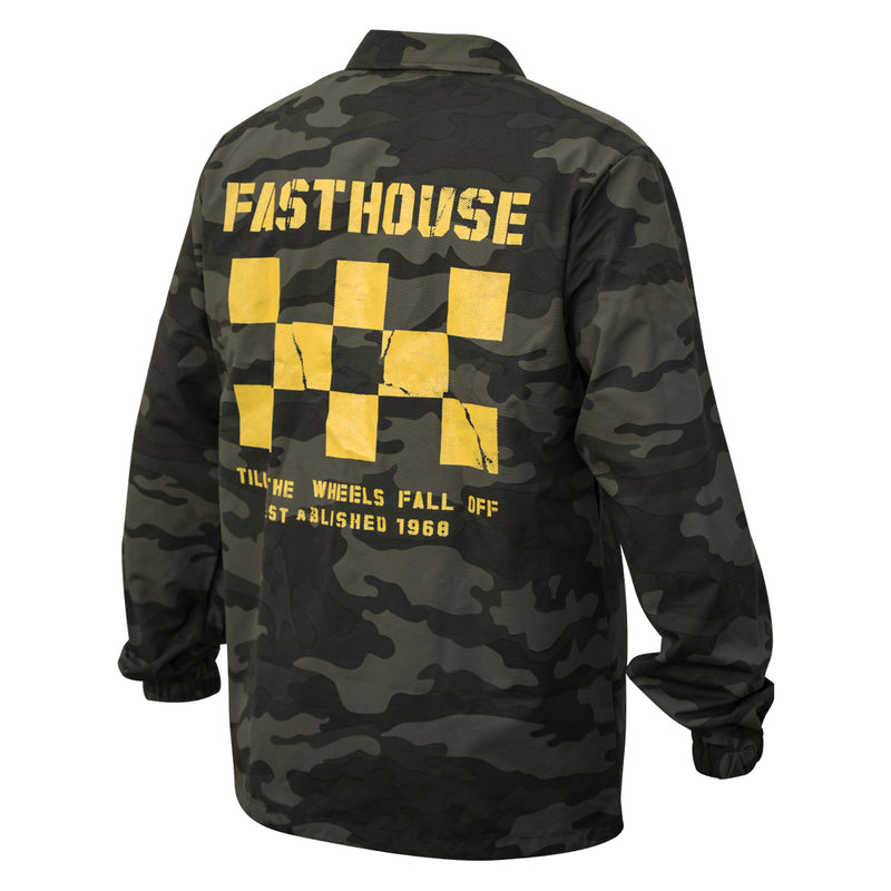 Fasthouse - Torn Checkers Windbreaker - Camo