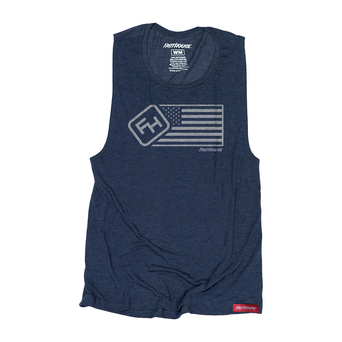 Fasthouse - USA Womens Muscle Tank - Antique Denim