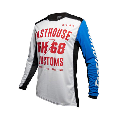 Fasthouse - Worx 68 Youth Jersey - White/Blue