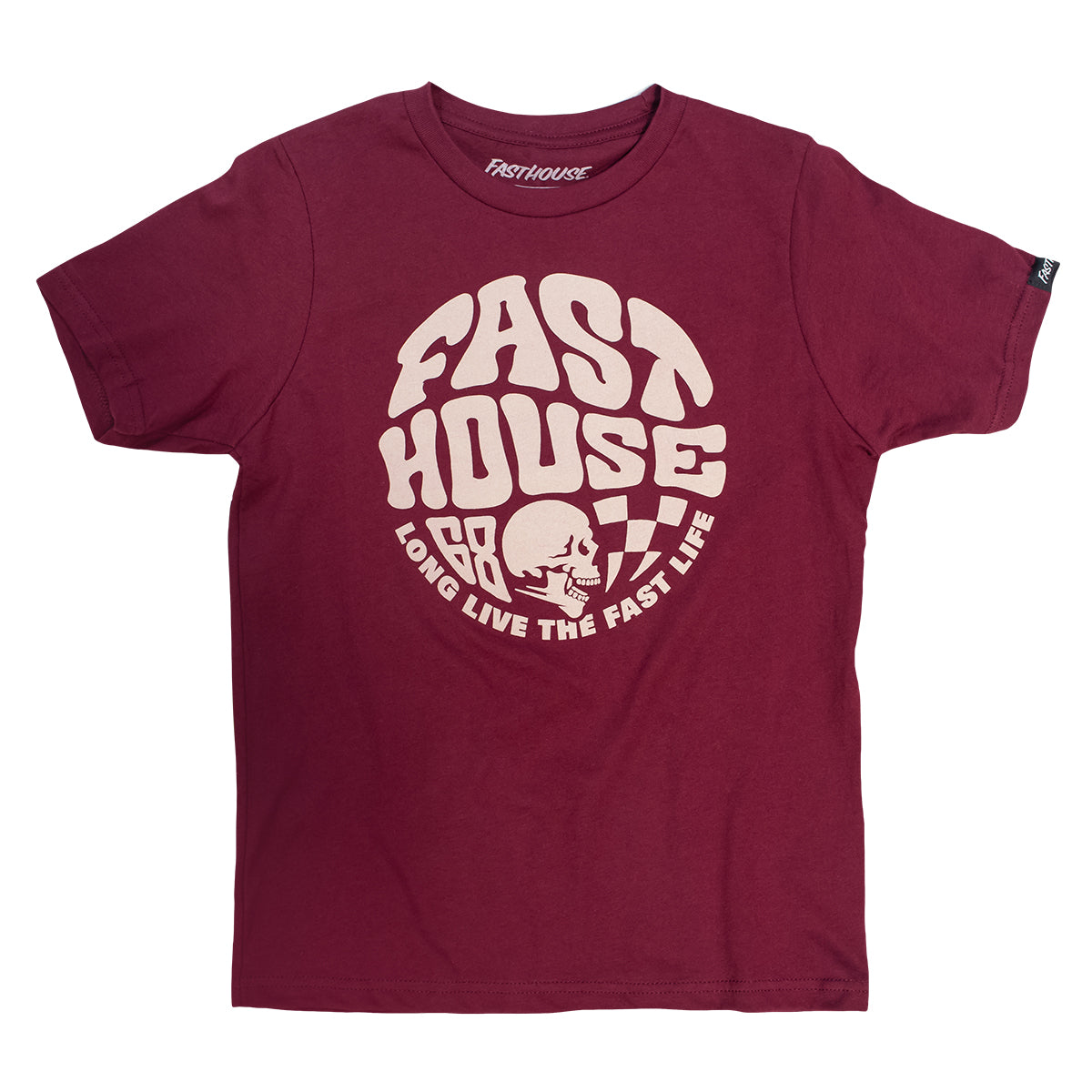 Fasthouse - Waxed Youth Tee - Maroon