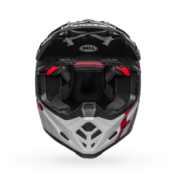 Bell Fast Tribe Moto 9 Helmet - Black/White/Red