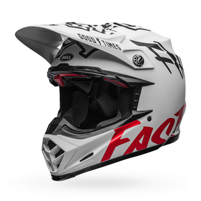 Fasthouse - Bell Fast Tribe Moto 9 Helmet - White/Red