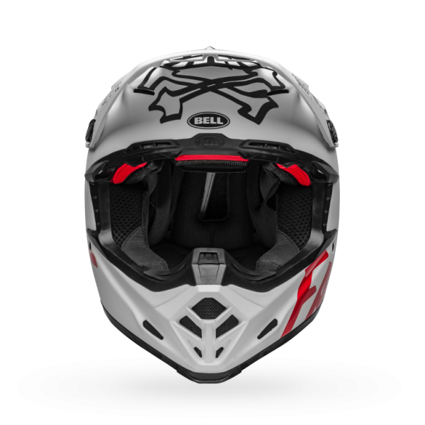 Bell Fast Tribe Moto 9 Helmet - White/Red