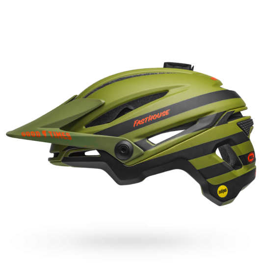 Fasthouse - Bell Sixer MTB Helmet - Green/Orange