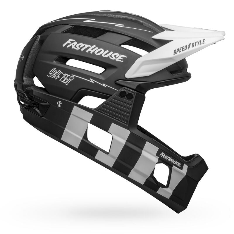 Bell Super Air R Spherical Helmet - Black/White