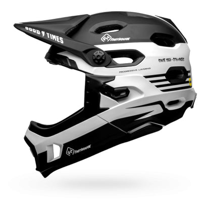 Fasthouse - Bell Stripes Super DH MTB Helmet - Black/White