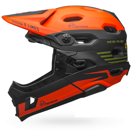 Fasthouse - Bell Super DH MTB Helmet - Green/Orange