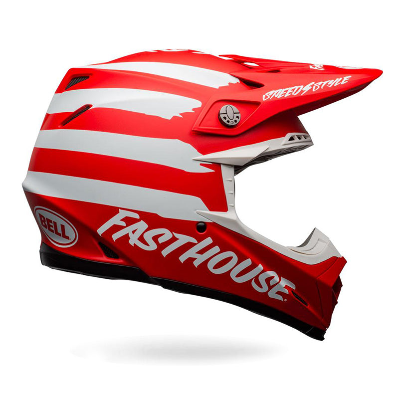 Bell Moto 9 MIPS FH Signia Helmet Red/White 2020