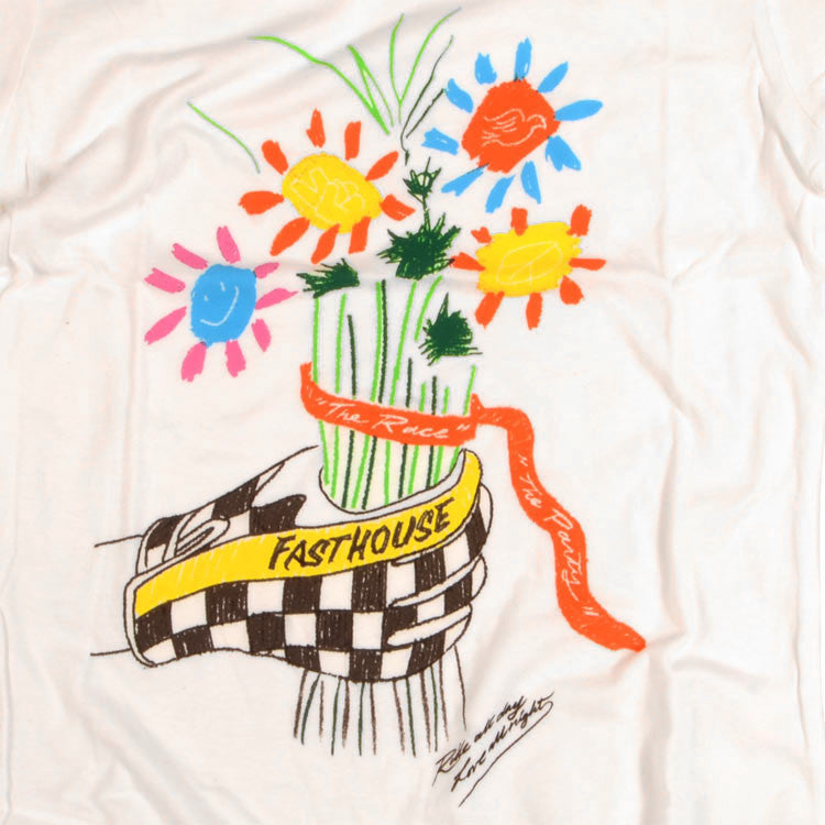 Fasthouse - Checkered Flowers Womens Tee - White