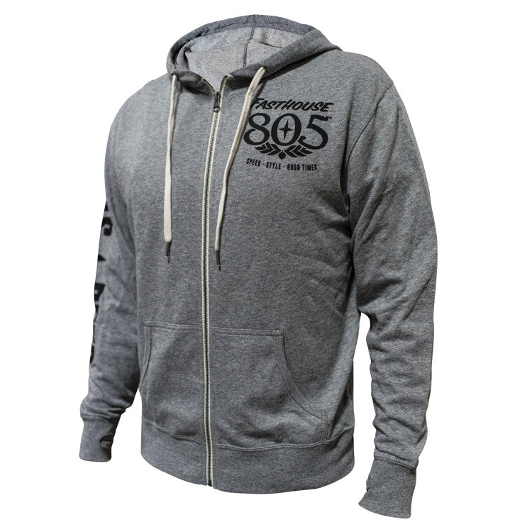 Fasthouse - 805 Good Times Zip Up Hoodie - Grey