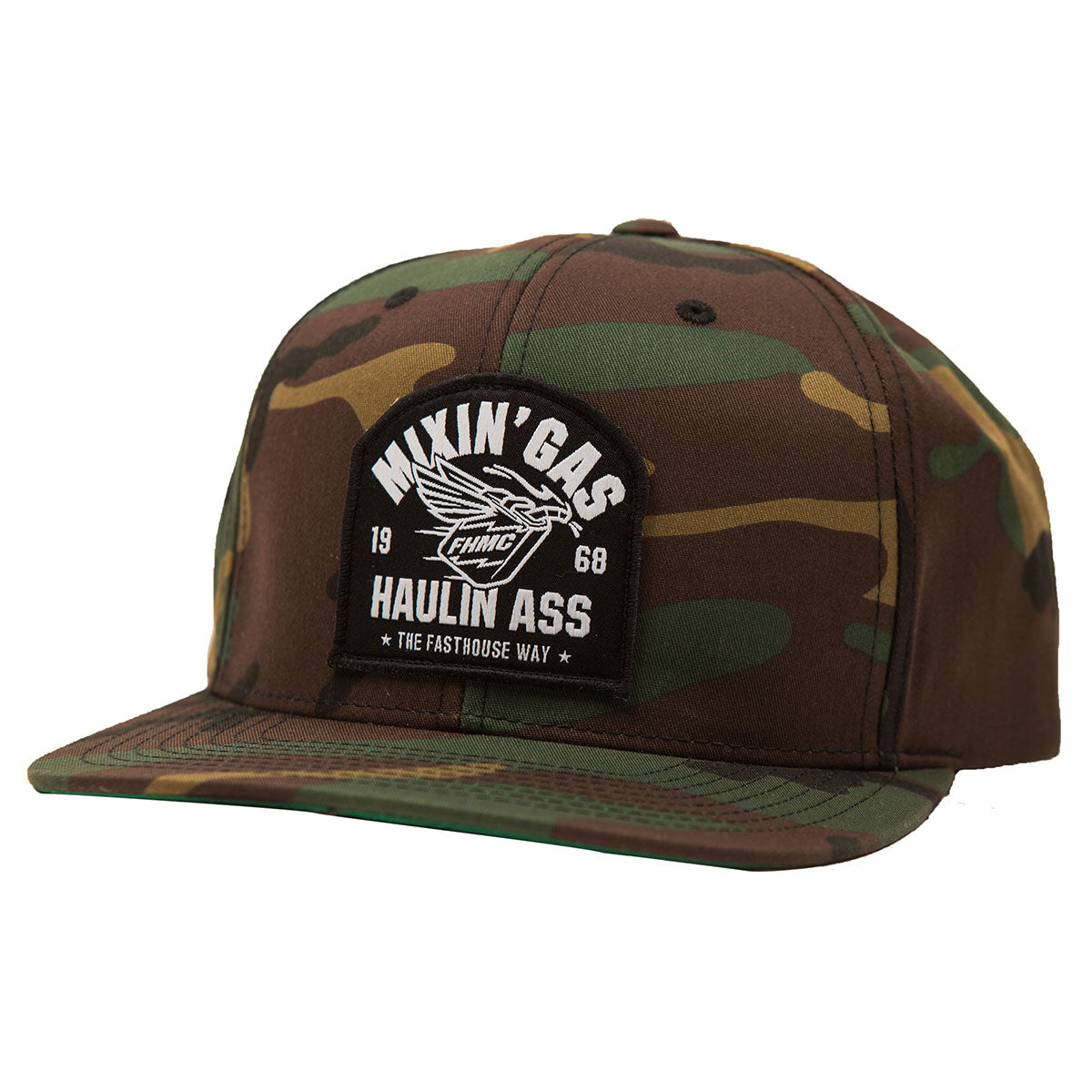 Fasthouse Mixin Gas Camo Hat
