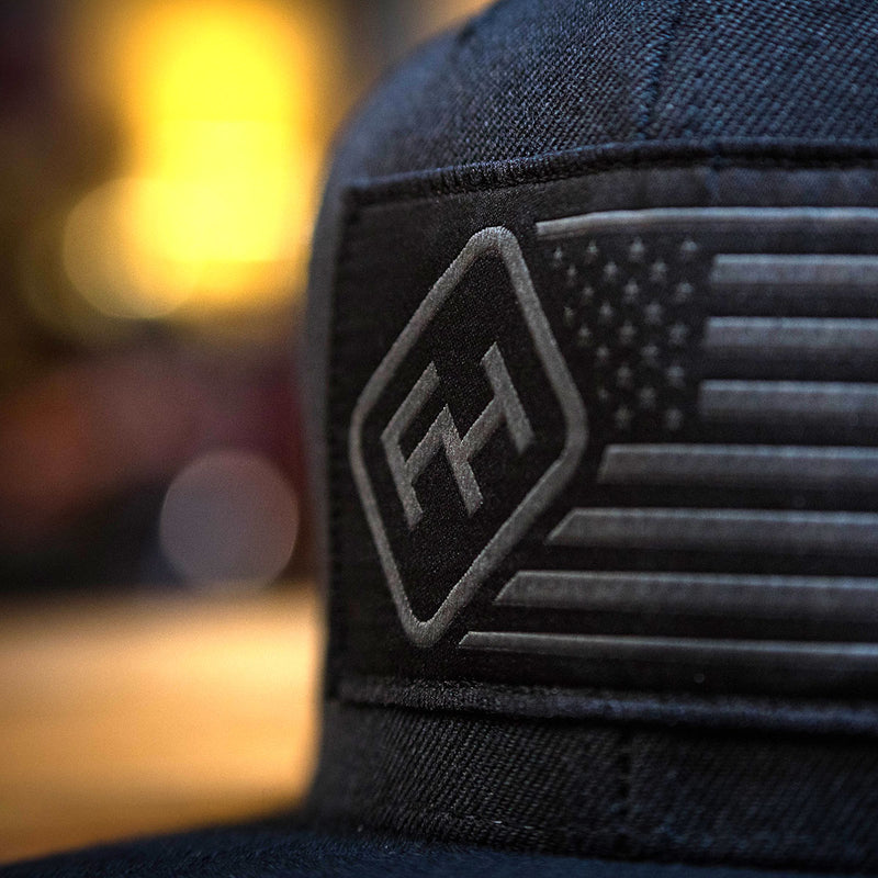 Fasthouse - USA Hat - Solid Black