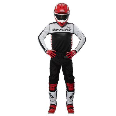 Grindhouse 2.0 Black/Red Pants & Split White Jersey
