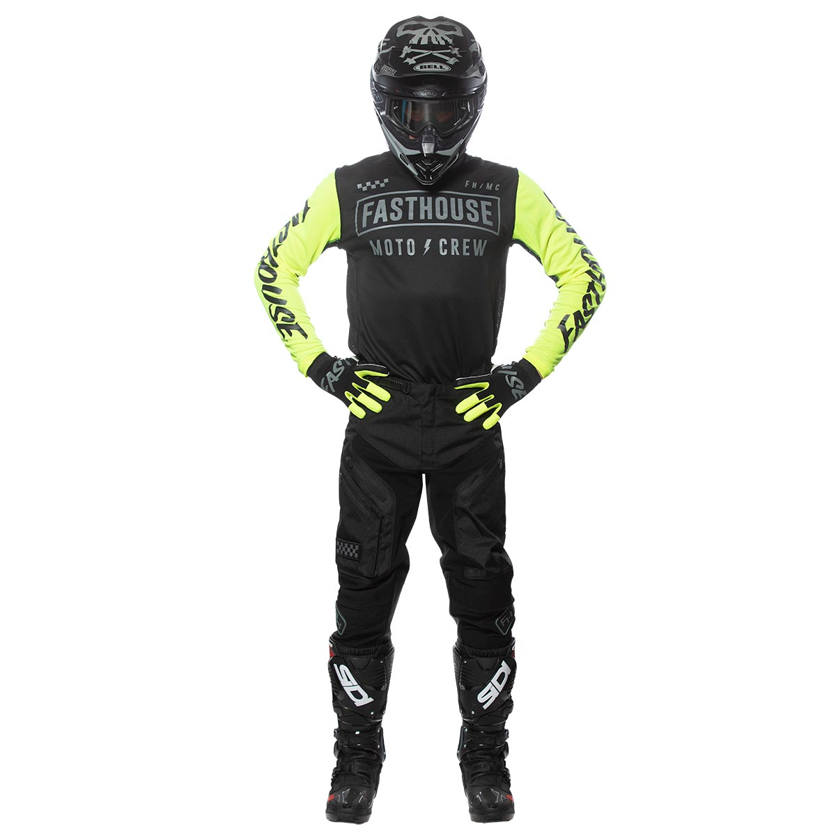 Strike Jersey - Black/Hi-Viz; Grindhouse Off-Road Pants