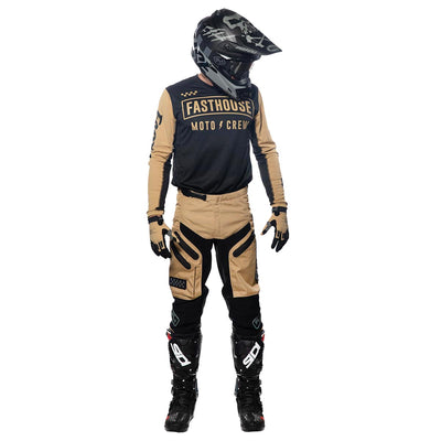 Strike Jersey - Black/Khaki; Grindhouse Off-Road Khaki Pants