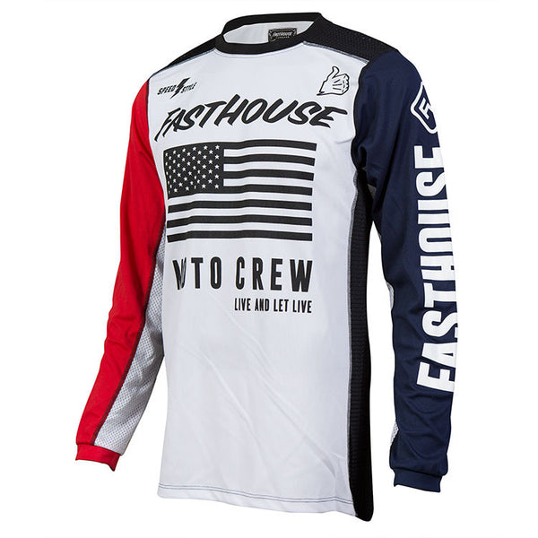 Fasthouse USA Air Cooled Jersey - Red White & Blue