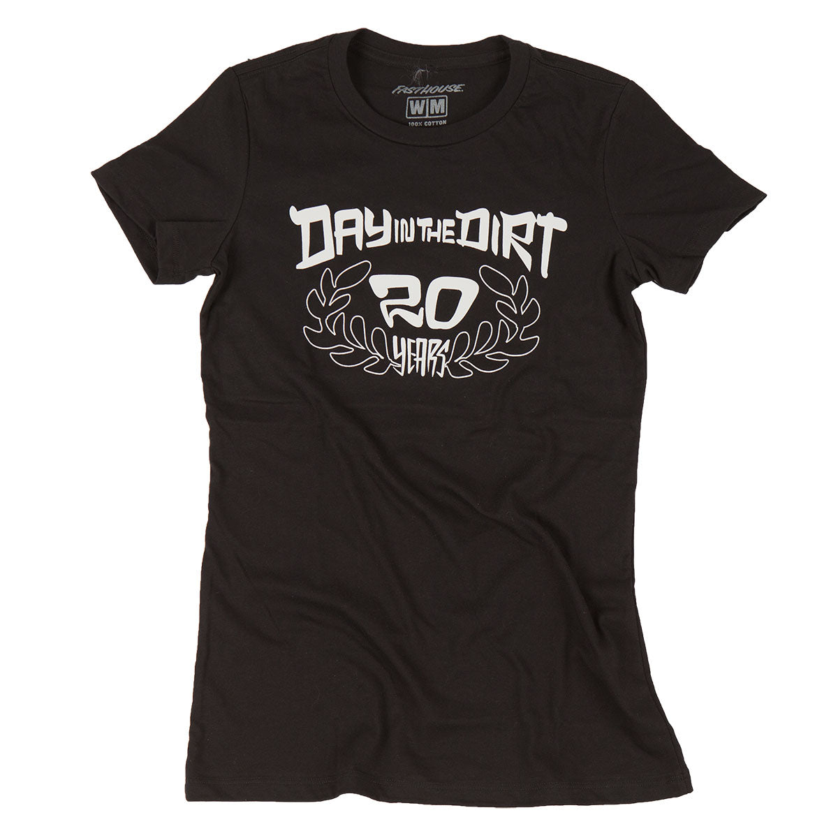 Fasthouse - Day in the Dirt 20th Wreath Womens Tee - Black