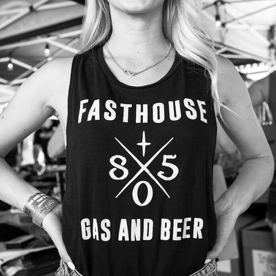 Fasthouse - 805 Gas & Beer Womens Muscle Tank - Black