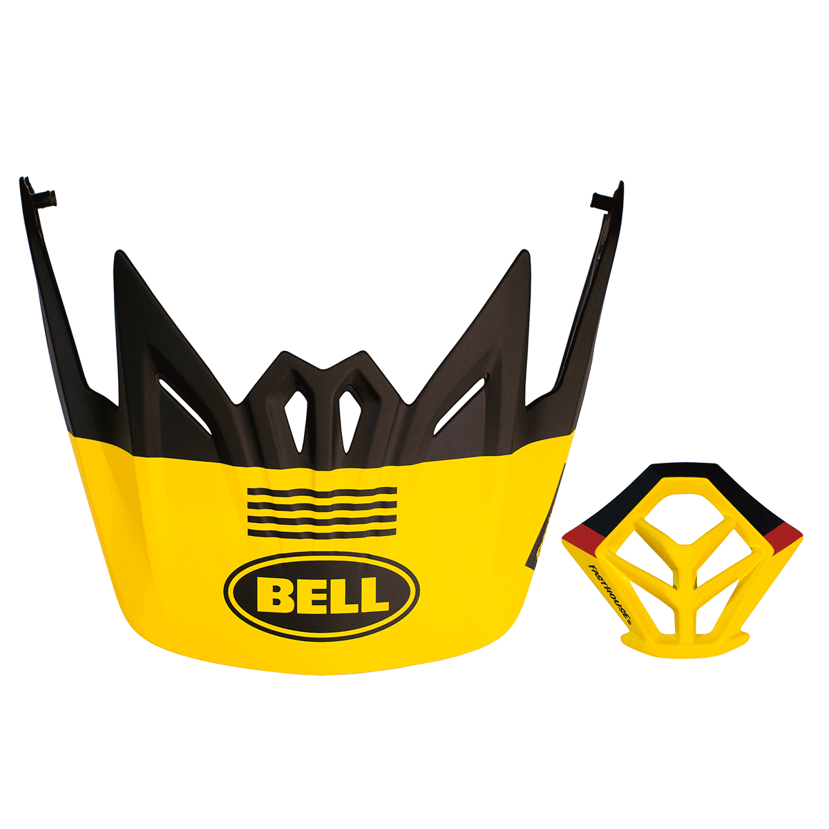 Bell Full-9 4-Stripe Visor + Mouthpiece Kit - Matte Yellow/Black