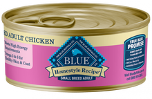 Load image into Gallery viewer, Blue Buffalo Homestyle Recipe Small Breed Chicken Dinner with Garden Vegetables & Brown Rice Canned Dog Food