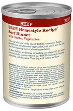 Load image into Gallery viewer, Blue Buffalo Homestyle Beef Dinner with Garden Vegetables & Sweet Potatoes Canned Dog Food