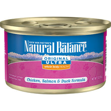 Load image into Gallery viewer, Natural Balance Original Ultra Premium Whole Body Health Chicken, Salmon and Duck Formula Canned Cat Food