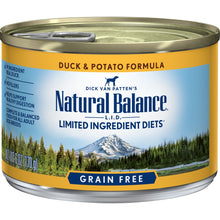 Load image into Gallery viewer, Natural Balance L.I.D. Limited Ingredient Diets Duck and Potato Canned Dog Food