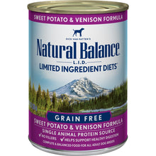 Load image into Gallery viewer, Natural Balance L.I.D. Limited Ingredient Diets Sweet Potato & Venison Canned Dog Food