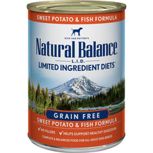 Load image into Gallery viewer, Natural Balance L.I.D. Limited Ingredient Diets Fish and Sweet Potato Canned Dog Food