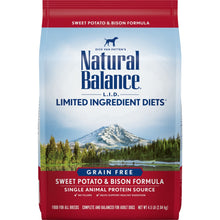 Load image into Gallery viewer, Natural Balance L.I.D. Limited Ingredient Diets Sweet Potato and Bison Dry Dog Food