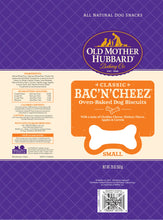 Load image into Gallery viewer, Old Mother Hubbard Crunchy Classic Natural BacNCheez Biscuits Dog Treats