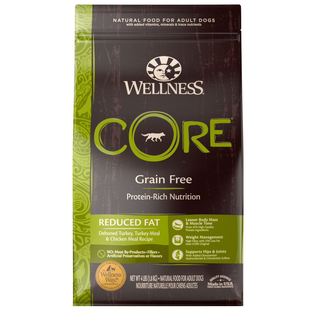 Wellness CORE Natural Grain Free Reduced Fat Weight Management Turkey & Chicken Recipe Dry Dog Food