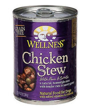 Load image into Gallery viewer, Wellness Grain Free Natural Chicken Stew with Peas and Carrots Wet Canned Dog Food
