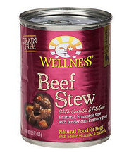 Load image into Gallery viewer, Wellness Grain Free Natural Beef Stew with Carrots & Potato Wet Canned Dog Food