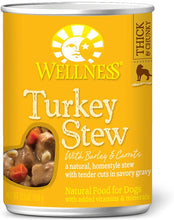 Load image into Gallery viewer, Wellness Natural Turkey Stew with Barley and Carrots Wet Canned Dog Food