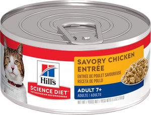 Hill's Science Diet Adult 7+ Savory Chicken Entree Canned Cat Food