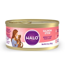 Load image into Gallery viewer, Halo Holistic Grain Free Adult Salmon Stew Canned Cat Food