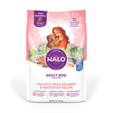 Load image into Gallery viewer, Halo Adult Holistic Wild Salmon & Whitefish Recipe Dry Dog Food