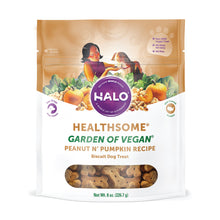 Load image into Gallery viewer, Halo Healthsome Vegan With Peanut 'n Pumpkin Flavored Dog Treats