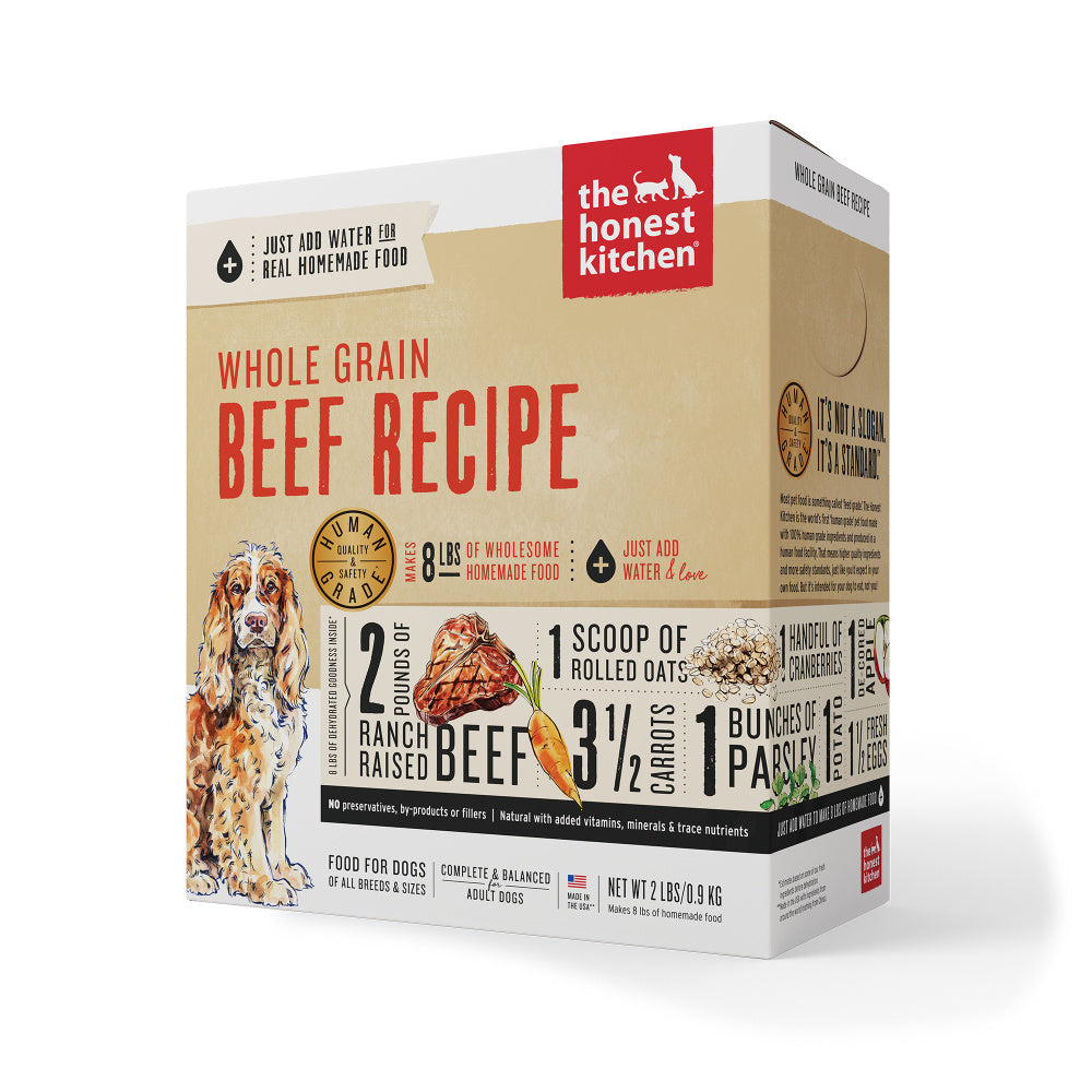 The Honest Kitchen Whole Grain Beef Recipe Dehydrated Dog Food